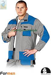 Куртка FORMEN рабочая мужская комфортная серо-синяя Lebber&Hollman Польша (униформа рабочая) LH-FMN-J JSNB