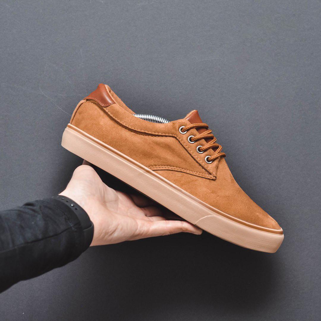 Чоловічі кеди фірмові популярні стильні під джинси (коричневі), ТОП-репліка
