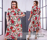 Женское платье шифон батал  50-56, фото 1
