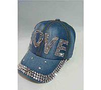Джинсовая стильная женская кепка «Love»