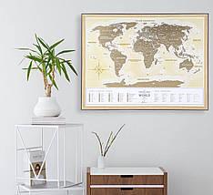 "Скретч карта Світу 1DEA.me ""Travel Map Gold World"" (укр) (тубус), фото 2"