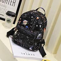 Женский рюкзак с принтом ночной Космос, звёздное небо, фото 1