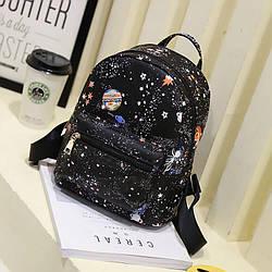 Женский рюкзак с принтом ночной Космос, звёздное небо 1043 🎁 Браслет в подарок