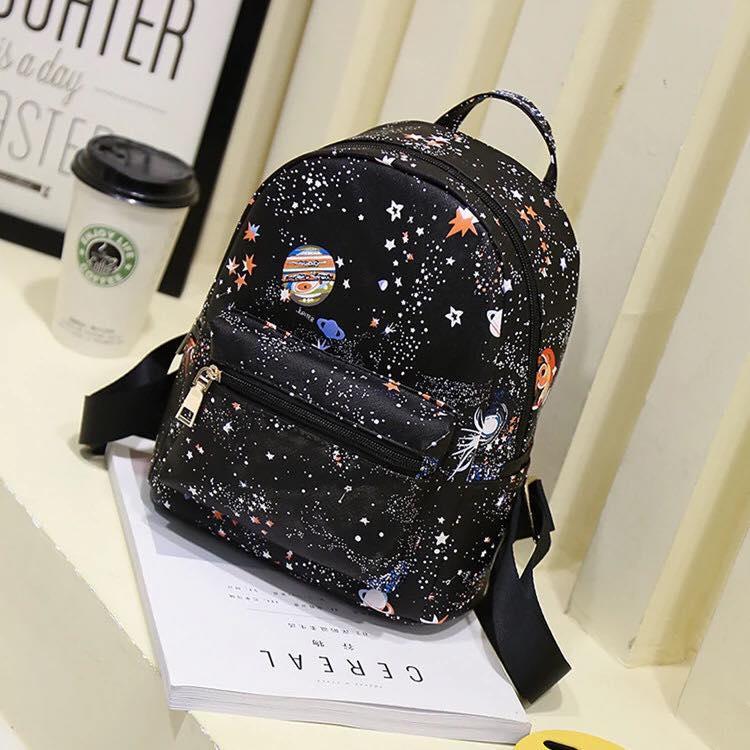 Женский рюкзак с принтом ночной Космос, звёздное небо