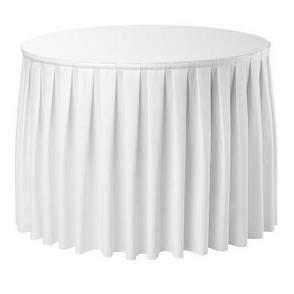 Фуршетная юбка с липучкой 2,60м Белая для стола диаметром 80см, фото 2