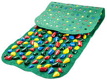 Масажний килимок з кольоровими каменями 100х40 см