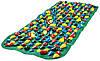 Массажный коврик с цветными камнями 100х40 см, фото 5