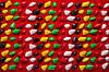 Массажный коврик с цветными камнями 100х40 см, фото 3
