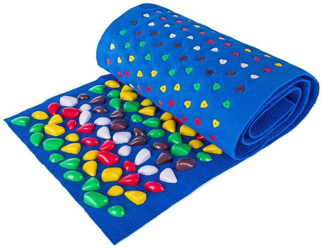Массажный коврик с цветными камнями 150х40 см