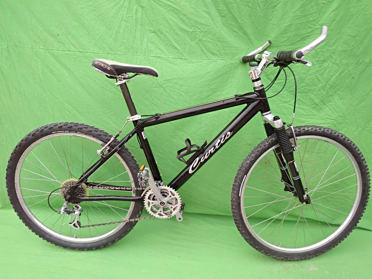 Гірський велосипед Curtis, алюміній, rock shox