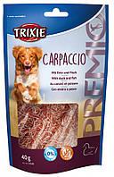 "Лакомство для собак ""Premio Carpaccio"" с уткой и рыбой 40г, Trixie™"