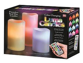 Ночник 3 свечи Luma Candles Color Changing ( светодиодные свечи с пультом )