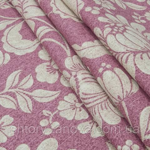 Декоративная ткань для штор, большие цветы