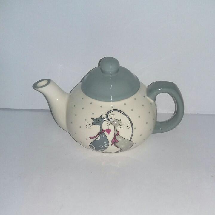 """Чайник заварочный керамический 0.5 л """" Влюбленные коты"""""""