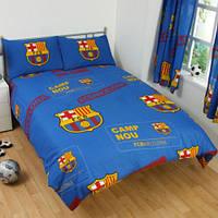 Постельное белье ФК Барселона комплект - 2 наволочки и пододеяльник 200х200 см