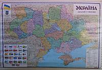 Карта Украины 110*160 Map of Ukraine с планками