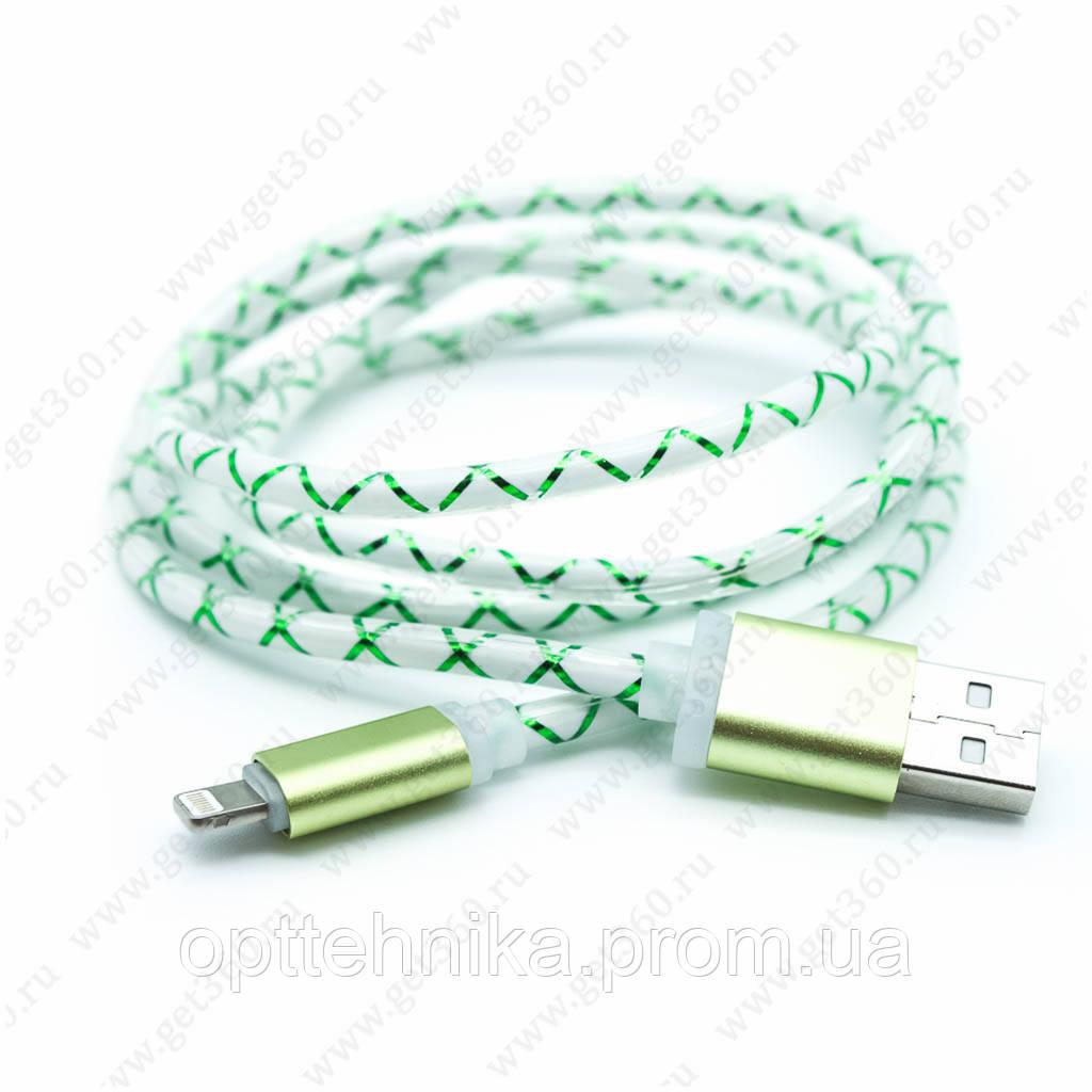 Кабель (Шнур) Cable K-54 Светящийся Lightning USB