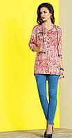 Блузка Lissana-2835 белорусский трикотаж, красный+белый, 54