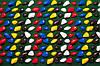 Массажный коврик с цветными камнями 150х40 см, фото 2