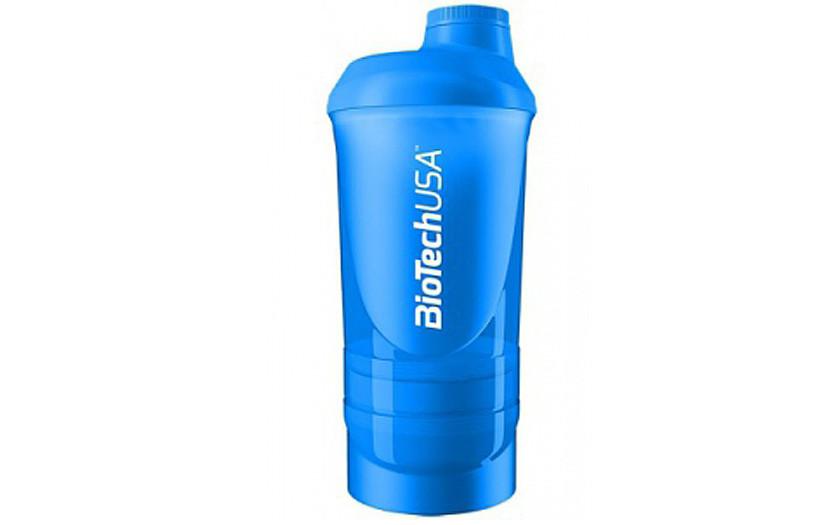 Шейкер BioTechUSA Shaker 2-х компонентный 500ml +150ml blue