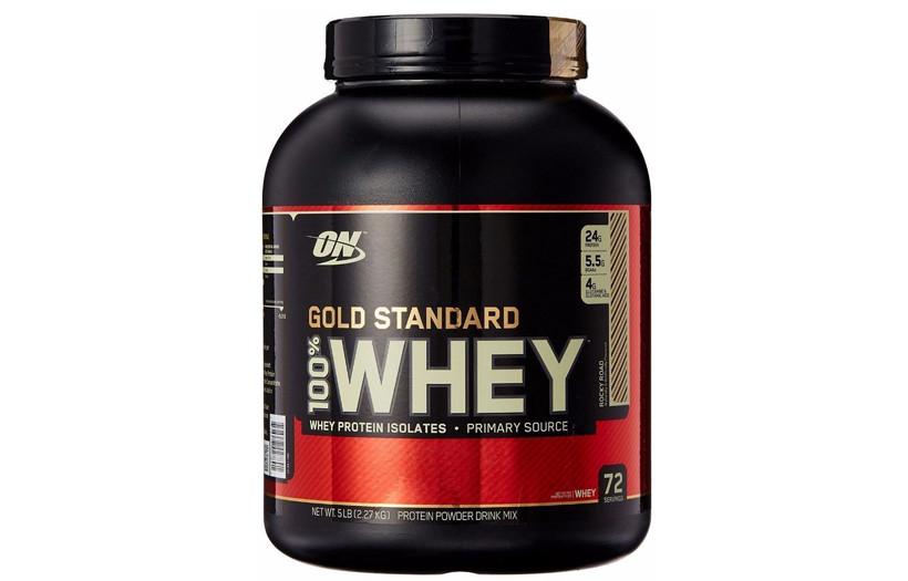 Протеин Optimum Nutrition 100% Whey Gold Standard  2.3 kg. (КЛУБНИКА)
