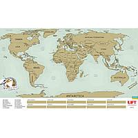 Подарок Скретч карта мира на английском языке