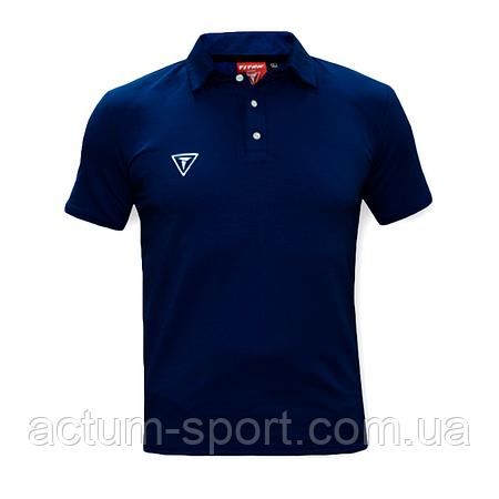 Футболка поло (рубашка) Universal т.синий