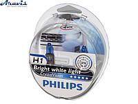 Галогенки H1 PHILIPS 12V 55W 12258CVSM Crystal Vision+лампы W5W
