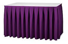 Фуршетная юбка с липучкой 3,70/0,72 Белая для стола 90х90см Стандартной высоты, фото 2