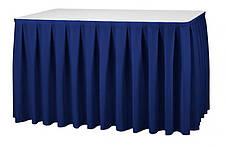Фуршетная юбка с липучкой для стола Стандартной высоты 72см, фото 3