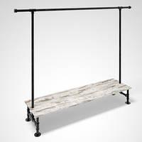 Вешалка-стойка для одежды Лофт Loft напольная металлическая. Вешало. Рейл. Торговая мебель для магазина одежды