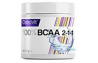 Аминокислоты Ostrovit BCAA 2:1:1 200g.(БЕЗ ВКУСА)