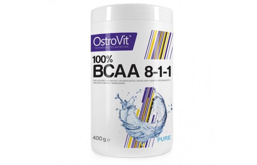 Амінокислоти Ostrovit BCAA 8:1:1 400g.(БЕЗ СМАКУ)