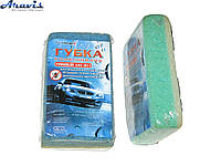 "Губка ERT-017 ""МУХОБIЙ"" двухслойная для мытья машины"