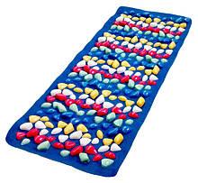 Масажний килимок з кольоровими каменями 150х40 см