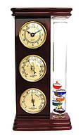 Настольный барометр с часами и термометром