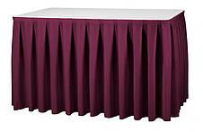 Фуршетна спідниця з липучкою 5,50/0,72 Біла для столу 90х180см Стандартної висоти, фото 3