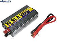 Инвертор 12V-220V 500W модиф. волна/USB-5VDC0.5A/прикуриватель/клеммы