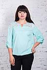 Ажурная женская блуза больших размеров весна-лето 2018 - Нежность - (код бл-175), фото 8