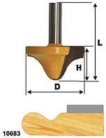 Фреза кромочная фигурная ф38х19, хв.12мм (арт.10683)