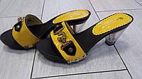 Распродажа кожаные шлепки на каблуке Турция
