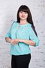 Строгая женская блуза больших размеров весна-лето 2018 - Ажур - (код бл-180), фото 2