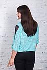 Строгая женская блуза больших размеров весна-лето 2018 - Ажур - (код бл-180), фото 3