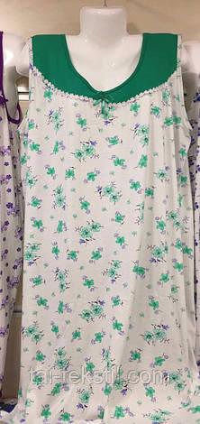 Oncu ночная рубашка хлопок однотонная вставка в разных цветах Турция (54-56р), фото 2