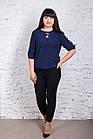 Однотонная женская блуза батал весна-лето 2018 - (код бл-185), фото 2