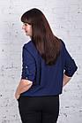 Однотонная женская блуза батал весна-лето 2018 - (код бл-185), фото 3