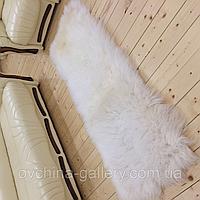 Коврик из овчины, белый цвет, размер 200х80