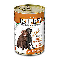 Консервы Kippy Dog с курицей, морковью и индейкой 0.4 кг