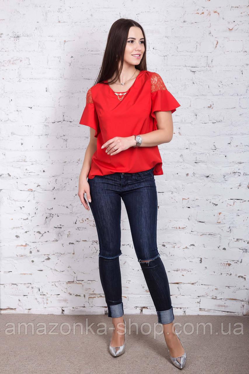 Легкая женская блузка 2018 - Фонарик - (код бл-191)