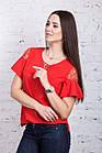 Легкая женская блузка 2018 - Фонарик - (код бл-191), фото 2